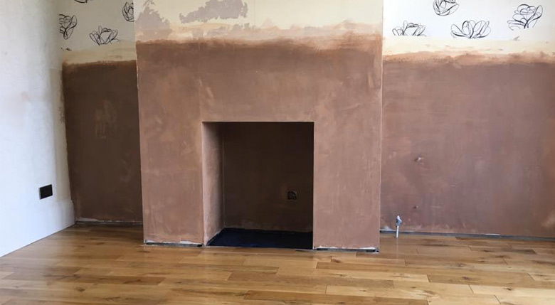 damp proofing fireplace complete