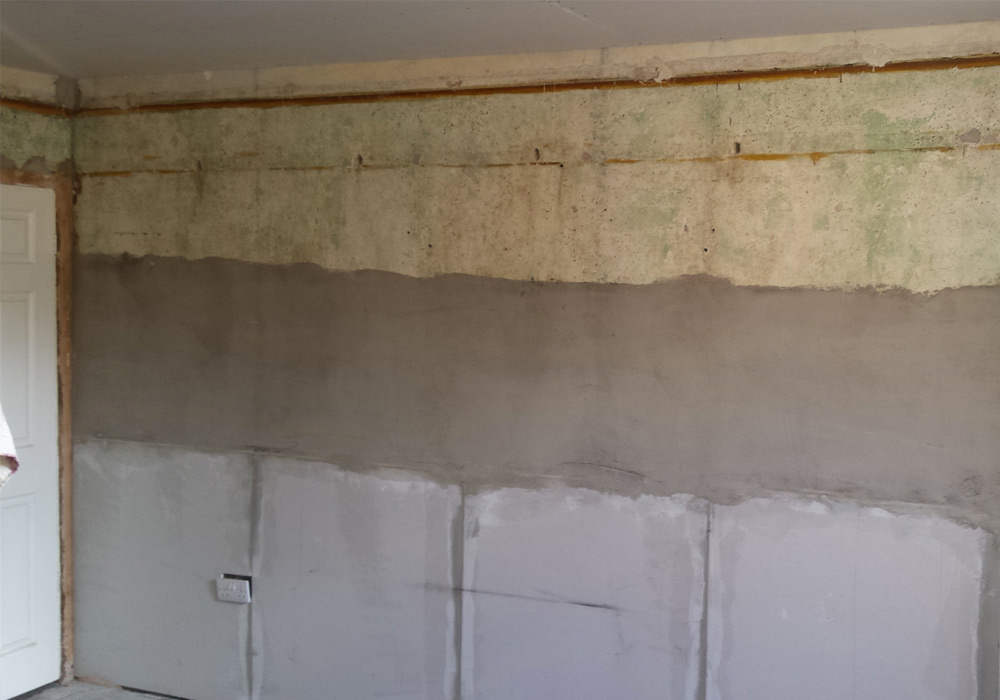 wall damp proof job 1 before